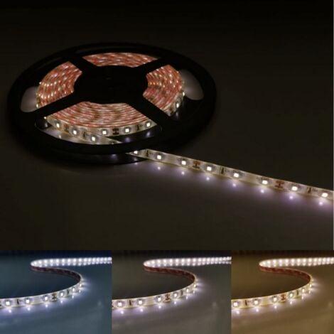 Ruban LED 12V 5M 5050 IP44 60LED/m - Blanc Neutre 4000K - 5500K - SILAMP