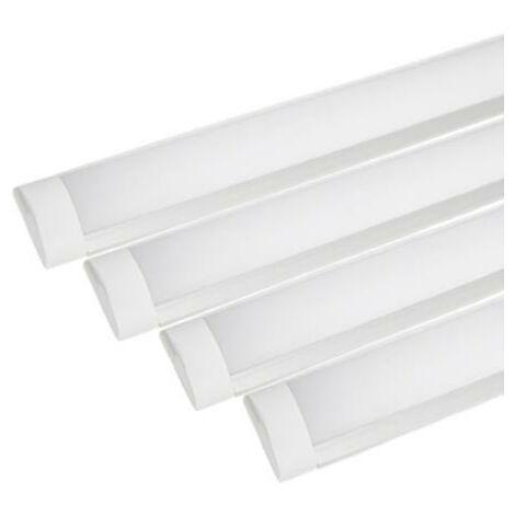 Réglette lumineuse LED 120cm 36W (Pack de 4) - Blanc Neutre 4000K - 5500K - SILAMP