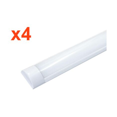 Réglette lumineuse LED 150cm 60W (Pack de 4) - Blanc Neutre 4000K - 5500K - SILAMP