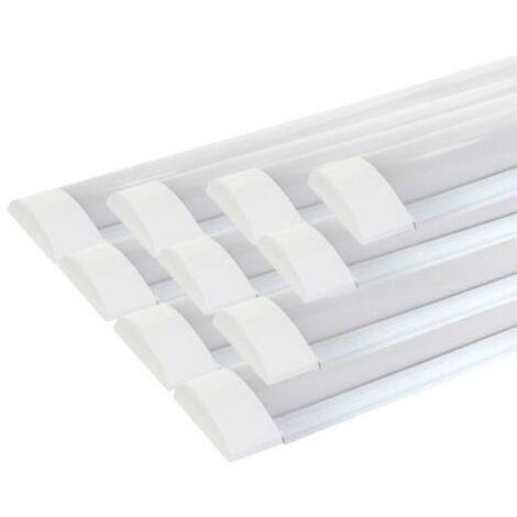 Réglette lumineuse LED 120cm 36W (Pack de 10) - Blanc Froid 6000K - 8000K - SILAMP