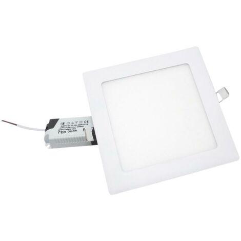 Spot LED Extra Plat Carré 12W Blanc - Blanc Chaud 2300K - 3500K - SILAMP