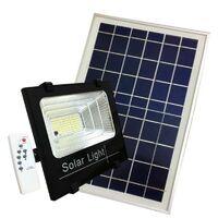 Projecteur Solaire LED 200W IP65 Dimmable avec Détecteur (Panneau Solaire + Télécommande Inclus) - Blanc Froid 6000K - 8000K - SILAMP