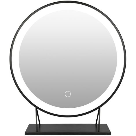 Miroir de Maquiallge Ø 50cm Miroir Électrique Lumineux Réglable LED Blanc Froid