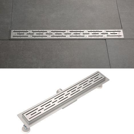 Longueur du drain de la douche:600mm longueur s/électionnable Caniveau de sol grand d/ébit pour douche plain pied en acier inoxydable G013