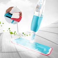 Pico Spray Balai Vaporisation Serpillère en Microfibre Multifonction Mop Spray Pliable Plastique (Bleu) - Bleu