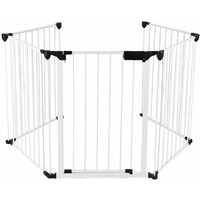 Barriere de securite enfant GRANDE VERSION 3.1M 5 panneaux blanc - blanc
