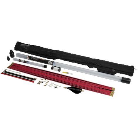 bizline 760010 | bizline 760010 - kit de baguettes tire-fils 14 m avec housse de transport et accessoires polymère