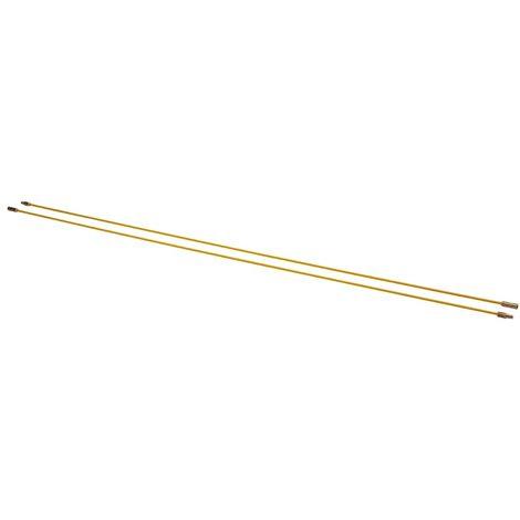 bizline 700139   kit de 2 baguettes tire-fils 1 m Ø 4 mm jaunes