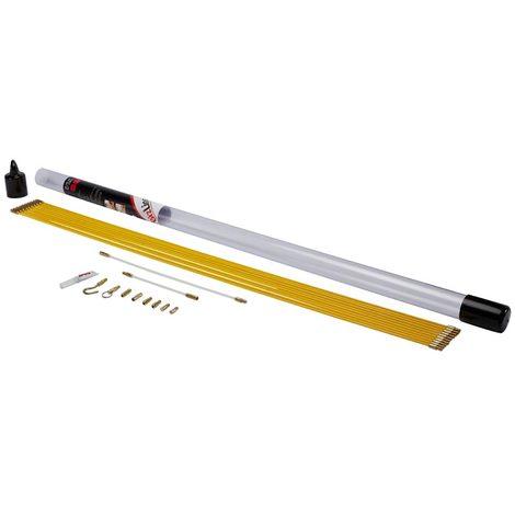 bizline 700145   kit de 10 baguettes tire-fils 1 m d 4 mm jaunes