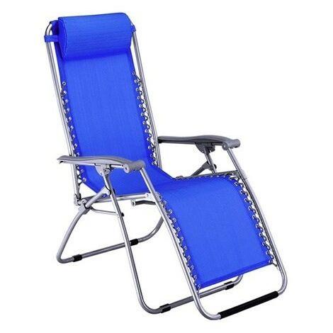 Sedia Sdraio In Alluminio Anodizzato Reclinabile Pieghevole Mare Piscina