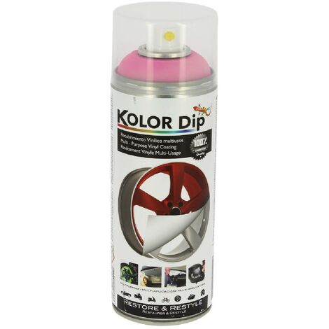 Bombe peinture finition rose fluo - Spray 400ml