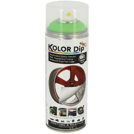 Bombe peinture finition vert fluo - Spray 400ml