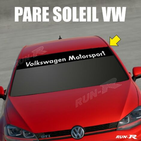 Sticker 898 pare-soleil compatible avec VW MOTORSPORT Up Polo Golf Caddy Scirocco Beetle