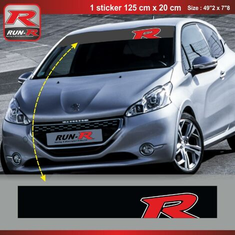 Sticker pare-soleil Run-R 00BP Red Racing 125x20cm