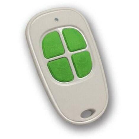 SCS SENTINEL Telecommande compatible avec motorisation de portail 4 canaux blanc et anis