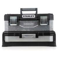 STANLEY - Boîte a Outils a tiroir 51cm - 1-95-830 - Boîte a outils bimatiere galvanisée 51cm