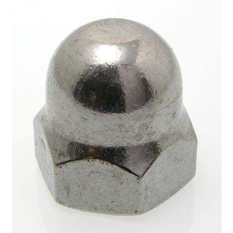 TOPCAR - 100 écrous BORGNES inox A2 diamètre 5 - 1587-5