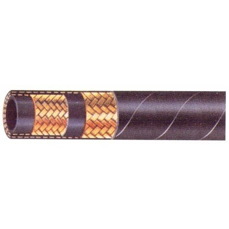 """Flexible hydraulique 2 tresses 5/8"""" DIN 2SN 250 bars (Lot de 10 mètres)"""