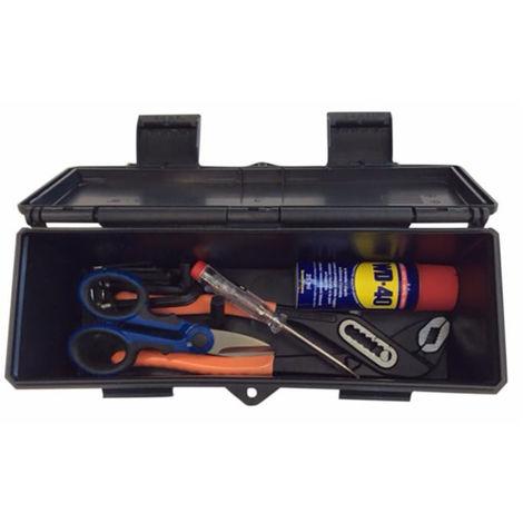 Boite à outils 280X89X107MM mm avec assortiment d'outils électriciens