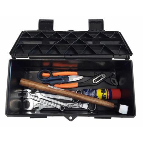Boite à outils 420X125X125 MM mm avec assortiment d'outils (8 pièces)