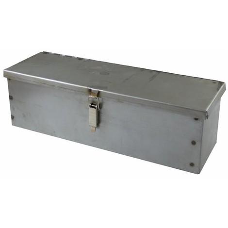 Coffre a outils acier brut (non peint) 420 x 130 x 130 mm ép. 10/10