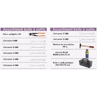 Boite à outils 320X150X130MM mm avec assortiment d'outils (10 pièces)