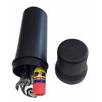 Boite à outils Ø 90 x 325 mm avec assortiment d'outils (8 pièces)