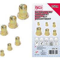 10-12 verzinkt 6-8 150 tlg Sortiment Hutmuttern M 4-5
