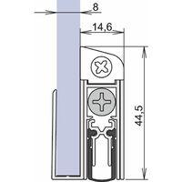 Türdichtung Schall-Ex® Applic A 1-s.L.805mm Alu.weiß HLT ATHMER