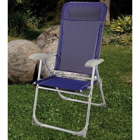 Sedie Sdraio Pieghevoli Alluminio.Sedia Sdraio In Alluminio Anodizzato Reclinabile Pieghevole Mare Piscina