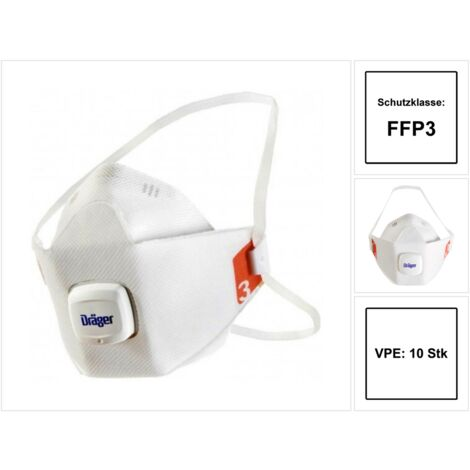 Einweg eXtreme 10 St/ück zertifizierte Masken FFP3 mit Ventil Staubschutz flexibles Kopfband Einheitsgr/ö/ße Versand aus Deutschland Eigenschutz Faltmaske Ausatemventil Marke