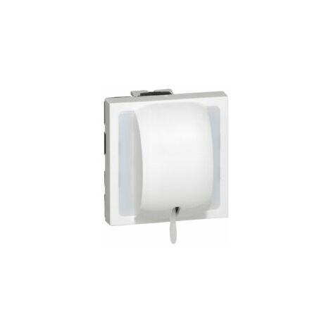 Interrupteur à tirage 10AX 250V~ 1 module avec voyant - Mosaic - Blanc - 077014 - Legrand