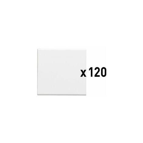 Lot de 120 interrupteurs ou va-et-vient 10AX 250V~ Easy-Led Mosaic - 2 modules - Blanc - 077098L - Legrand