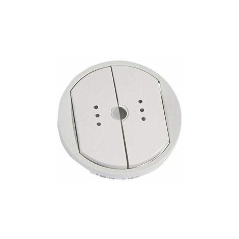 Enjoliveur interrupteur double émetteur-récepteur Céliane - Blanc - 068074 - Legrand