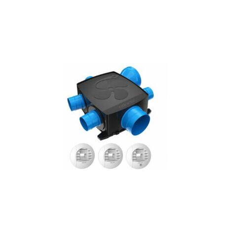 Kit VMC Hygrocosy Flex avec 3 bouches à piles - 412295 - Atlantic