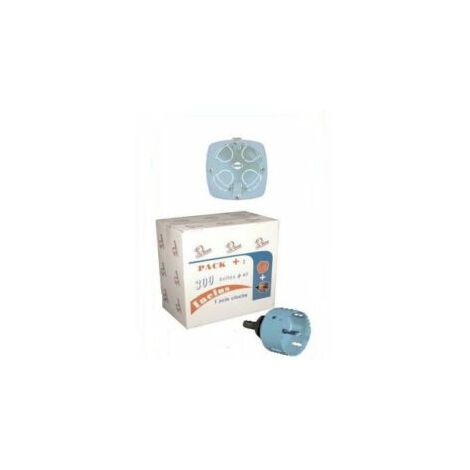 Pack de 300 boîtes d'encastrement (scie cloche offerte) - 1 poste - 52042 - Eurohm