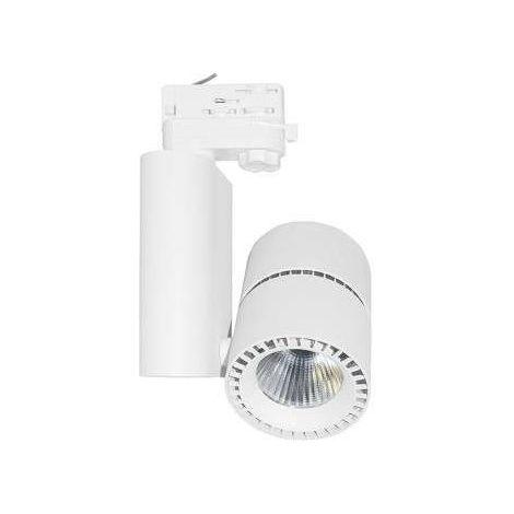 Spot LED sur rail blanc 40W | Blanc Neutre 4000K