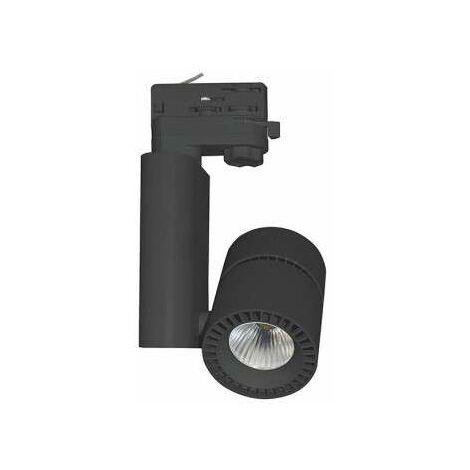 SPOT LED SUR RAIL 28 W NOIR 3000K IP40 230 V