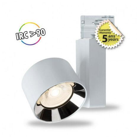 SPOT LED SUR RAIL 10 W BLANC 4000°K IP20 230 V 5 ANS
