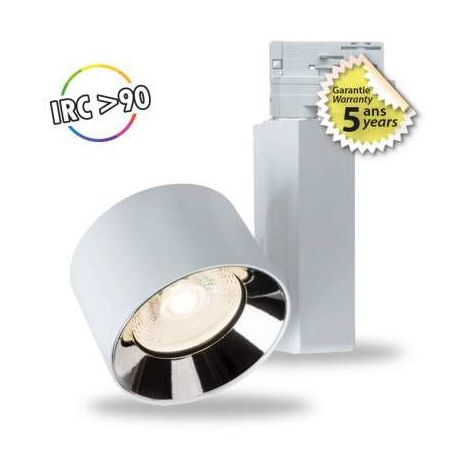 SPOT LED SUR RAIL 20 W BLANC 4000°K IP20 230 V 5 ANS