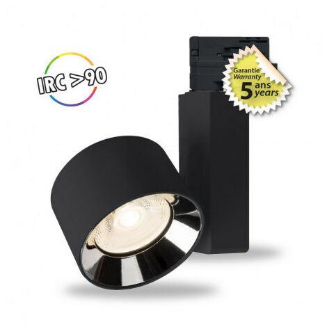 SPOT LED SUR RAIL 40 W NOIR 3000°K IP20 230 V 5 ANS