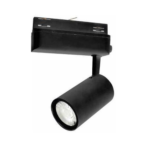 SPOT LED SUR RAIL 25 W NOIR 4000K IP20