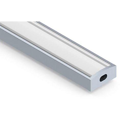 Profilé aluminium plat 7mm SL7   2m