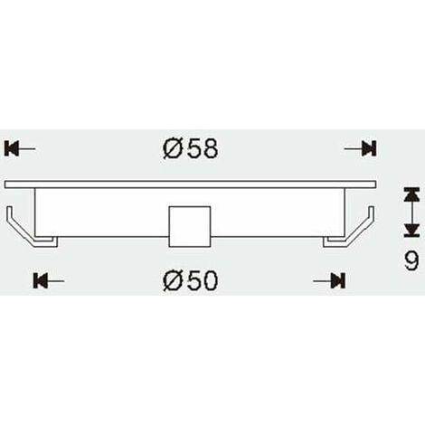 Mini spot LED encastrable rond ultra-plat | Blanc Chaud 2700K