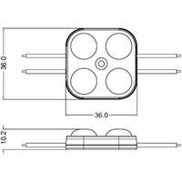 Module LED 2W DC12V IP67 pour Caissons Lumineux Blanc Jour 6500K