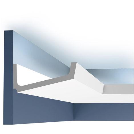 Corniche Moulure Cimaise Orac Decor C352 LUXXUS Eclairage indirect Décoration de stuc Profil décoratif 2 m