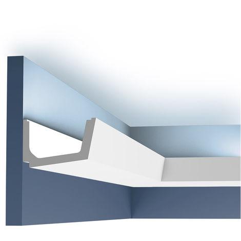 Corniche Moulure Cimaise Orac Decor C357 LUXXUS pour éclairage indirect Décoration de stuc Profil 2 m