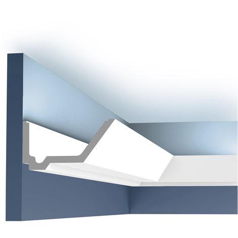 Corniche Moulure Cimaise Orac Decor C358 LUXXUS pour éclairage indirect Décoration de stuc Profil 2 m