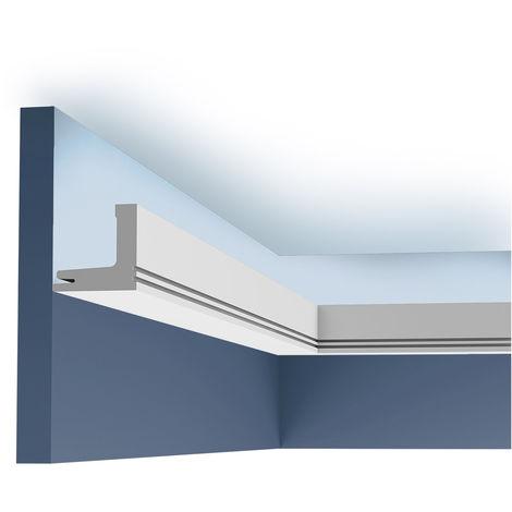 Cimaise Corniche Moulure Orac Decor C361 LUXXUS pour éclairage indirect Décoration de stuc Profil décoratif 2 m