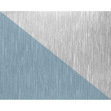 Papier peint blanc non-tissé à peindre texturé rayure 1 roul. EDEM 80373BR60 largeuer double 106 cm